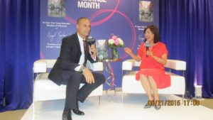 Nigel Barker and Svetlana Kim at the Macy's APA Heritage Month Event